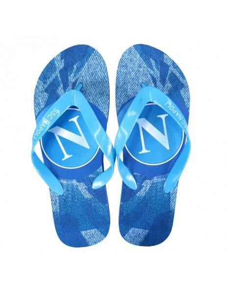 SSC NAPOLI LIGHT BLUE LOGO FLIP FLOP