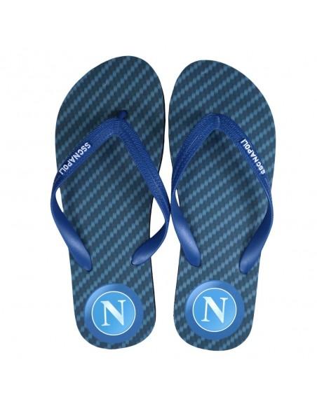 SSC NAPOLI BLACK/BLUE BOY FLIP FLOP